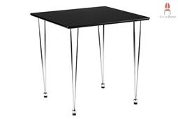 AMB.IENTE Tisch 75 x 75 - Schwarz -