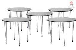 AMB.IENTE Tisch rund - Schwarz -