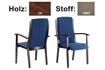 C�SAR SESSEL - Holz: C6 - Stoff: 1849 -