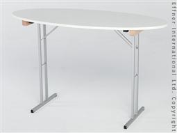 X-TRA Stehtisch Oval - Weiß -
